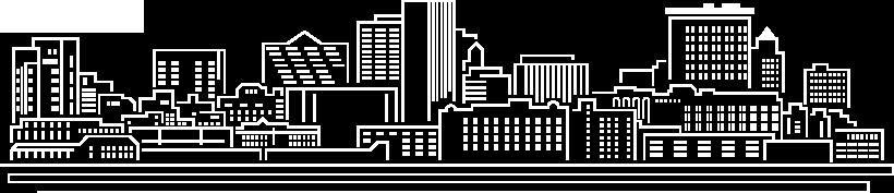el paso texas white outline of skyline