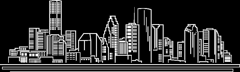 houston skyline outline graphic