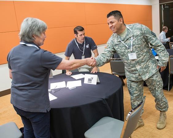 shaking hands veteran sap